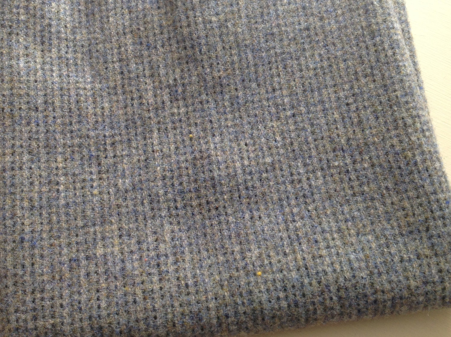 Steely Gray Blue Wool Fabric For Rug Hooking And Applique
