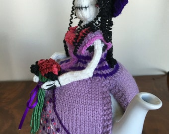 Knitted Catrina Day of the Dead Tea Cozy