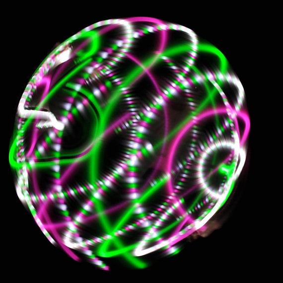 Watermelon LED hoop, by Moodhoops