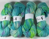 Bulky Superwash Merino, Hand Painted Yarn, CC's Guitar, 100 grams,  multicolored yarn, Chunky Yarn, Bulky Yarn, superwash merino