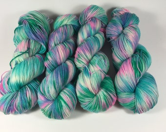 Superwash Merino Sock, Hand Painted Yarn, 100g, Hand Dyed Yarn, multicolored yarn, sock yarn, Hurts So Good