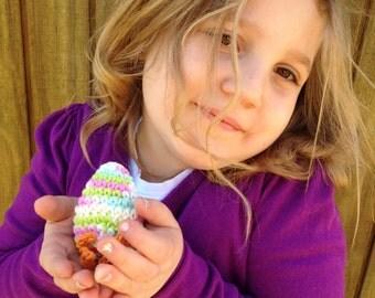 Hatched Easter Egg / Crocheted Egg / Crocheted Easter Decor