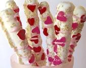 Valentine Candy Pretzel Rods