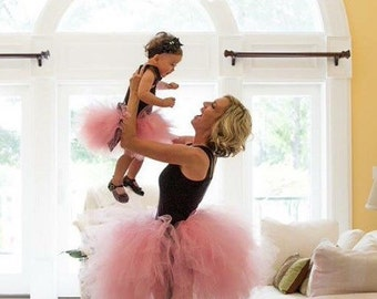 """Solid pink  Adult Tutu for waist 40 1/2"""" to 45"""" great for Halloween, Birthdays, Dance and Bachelorette parties"""