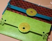 Handmade Cash Envelope or Gift card holder with velcro closure Set of 2, Wedding, Eid money, Baby Shower-Reserved for Navneet