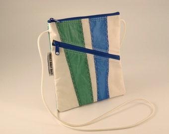 Crossbody Bag, Shoulder Bag, Small Shoulder Bag, Nautical Bag, Bridesmaid Bag, Sail bag, White Bag, Green Bag, Blue Bag (OTS6)
