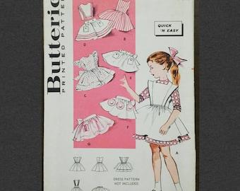 Butterick Vintage Sewing Pattern 9123 Girls Pinafore Size 5