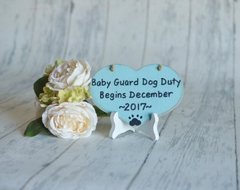 Baby/Pet/Birth Announcement/Gender Reveal/Small Pet's Photography Prop-Baby Guard Dog Duty-Your Choice of Colors-Ships Quickly