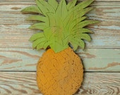 Pineapple Sign Southern Hospitality Southern Welcome Sign Wooden Hawaiian Pineapple Plaque