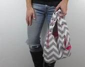 cross body bag with lace up accent strap. Design your own choose chevron, suede, corduroy, polka dots. Fashion mom bag.