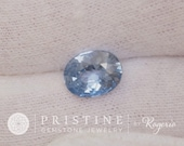 Light Blue Sapphire Oval Shape Fine Gemstone for Engagement Ring or Sapphire Jewelry September Birthstone