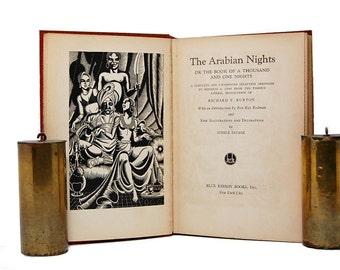 1932 Arabian Nights Sir Richard Burton Steele Savage Blue Ribbon Books Ancient Tales For Adults Unexpurgated 1001 Nights Shahrazad
