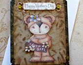 Handmade Mother's Day Card, Handmade Card, Mother's Day Greeting Card, Mom