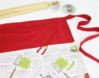 Gardening Adult Apron - red
