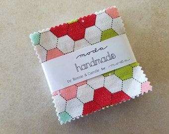 Bonnie and Camille Handmade Mini Charm Pack Moda Fabric 2.5 x 2.5