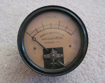 Jewell Electrical Instrument Ammeter Voltage Gauge DC