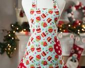 Flirty Apron - Christmas Cupcakes