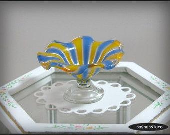 Dollhouse miniature bowl, handmade glass bowl 1:12 miniature, fruit bowl, glassware for dollhouse decoration