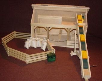 A-Frame Wooden Barn Set
