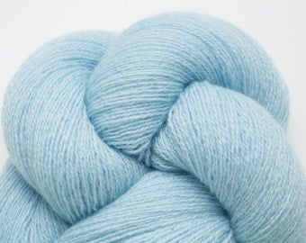Celeste Blue Cashmere Lace Weight Recycled Yarn, CSH00066