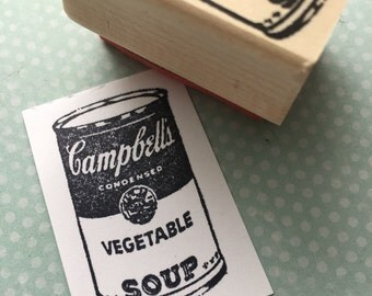 Soup Can Rubber Stamp 4639