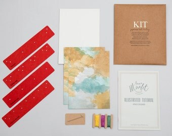DIY Japanese book binding KIT in SPANISH - Includes illustrated tutorial - Do It Yourself