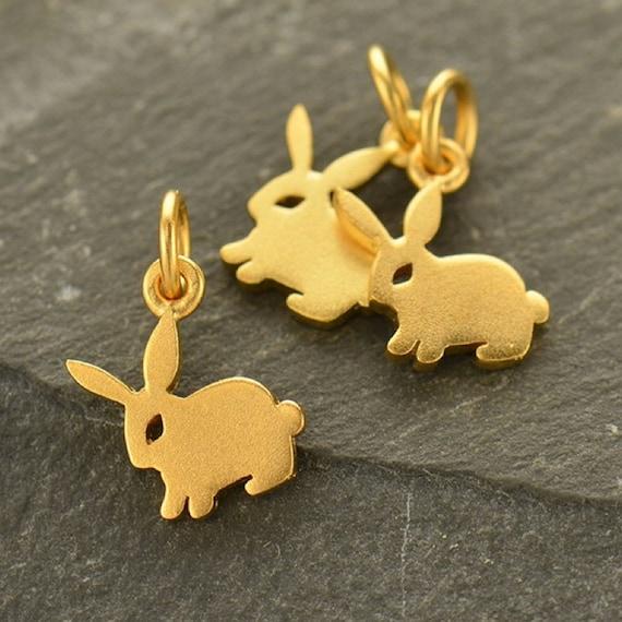 tiny bunny charm bunny charms gold bunny charm silver