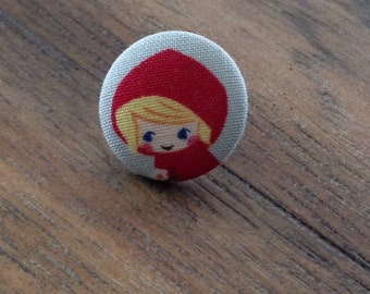 Little Red Riding Hood Fabric button push pins