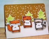 Thank You Card from Us, Christmas Thank You Note, Card for Boss, Secretary Gift, Retirement Card