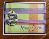 Happy Easter, Handmade, Handstamped Card