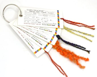Yarn tracker cards - Keep track of the yarns you spin - a great partner with the Eszee Tool Twist Kit.