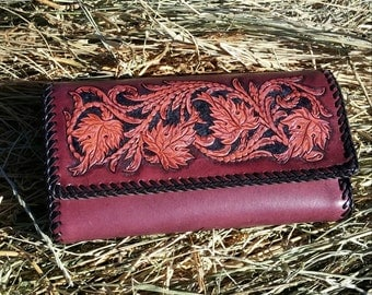 Women's Leather Clutch Purse