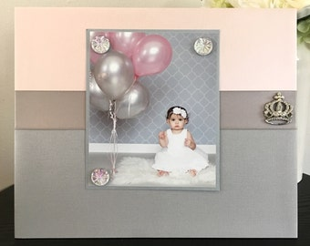 Sweet Princess Little Girl nursery or room decor baby shower gift Magnetic picture Frame