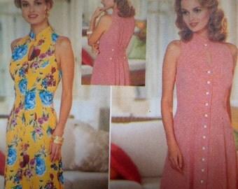 PRINCESS SEAM DRESS Pattern • Butterick 4433 • Miss 6-10 • Flared Dress • Button Front Dress • Keyhole • Modern Patterns • WhiletheCatNaps