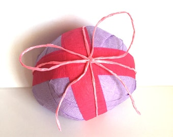 Surprise Ball/Goodie Ball/crepe paper ball with Treasures/trinkets/old fashioned Fun/Christmas Hanukkah Gifts/stocking Stuffer