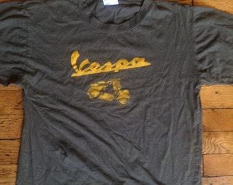 Vintage Vespa Scooter t shirt XL