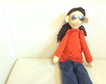Handmade custom doll made by photo, portrait cloth dolls, custom likeness dolls from picture, personalized doll