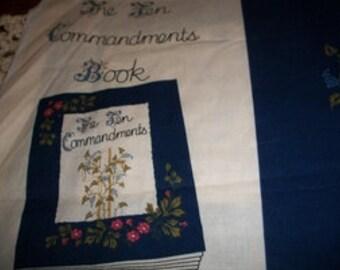 Ten Commandments Fabric Panels for Fabric Book