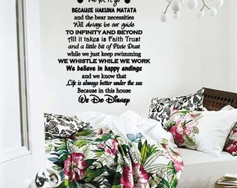 Wall Lettering In This House We Do Disney Disney Lovers Room Decor