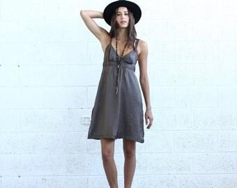 Summer SALE Sarafan Dress, Brown.