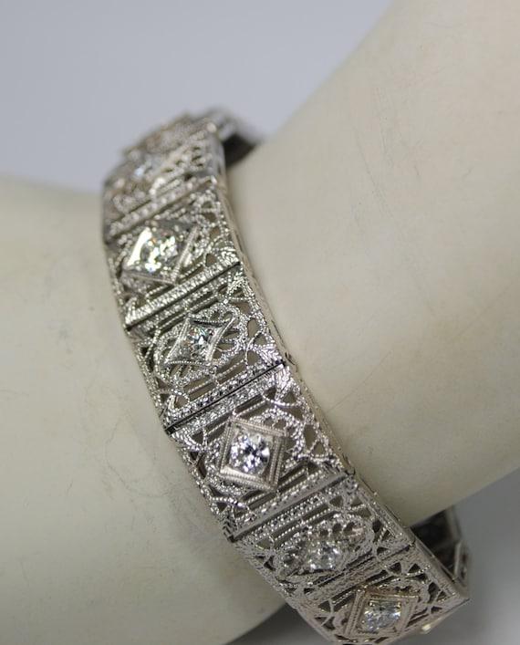 Filigree Diamond Bracelet