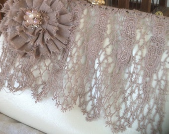 Shabby Chic Vintage Style  Bridal Purse,bridal purse, vintage purse, shabby chic purse,maid of honor gift, mother of the bride,lace purse