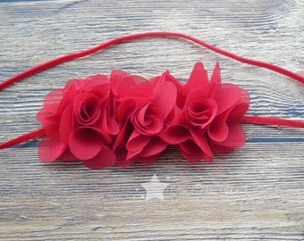 Red baby headband, baby headband, infant headband, newborn headband, girl headband, baby girl headband, baby gift, photo prop, hair clip