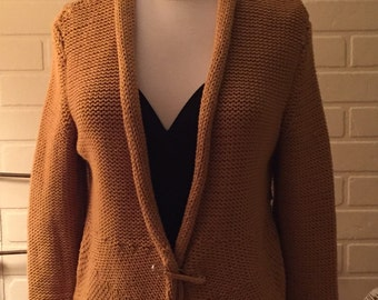 PURE cotton chunky knit oversized small/med but oversized for layering!!