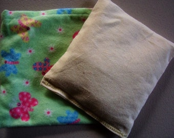 Therapeutic rice bag, rice pack, smaller size, hot or cold compress, reusable, boo boo bag, migraine relief
