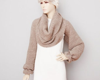 Knitted cardigan wrap bolero - CHOOSE YOUR COLOR