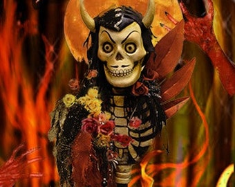 5 Varied Day of the Dead Theatrical Note Cards #2