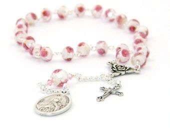 Saint's Chaplet Rosary - St Therese of Lisieux - The Little Flower of the Child Jesus