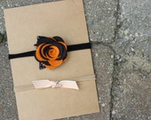 Set of 2 Fall Inspired Headbands - Variety Pack - Nylon Headbands - One Size Fits All - Medium Two-Toned Rose, Piper