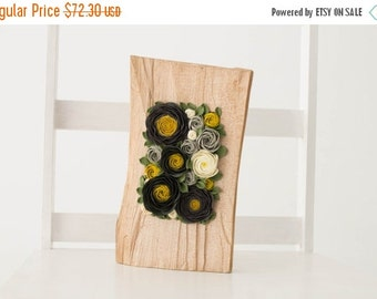 Christmas SALE Black Yellow Grey White Rose Flower Decor Decoration Wood Frame Base Basis Planted Flowers Home Decor Accessory Housewarming